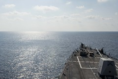 USS William P. Lawrence (DDG 110) operates in the South China Sea, May 2. (U.S. Navy/MC3 Emiline L. M. Senn)