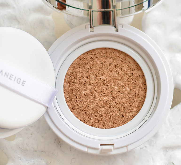 8 Laneige BB Cushion Pore Control Brown Beige Review Swatches - Gen-zel.com (c)