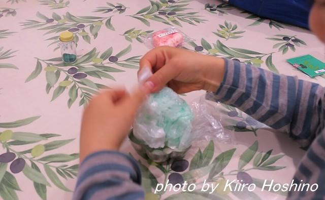 2016.4.30石鹸作り、型はめ