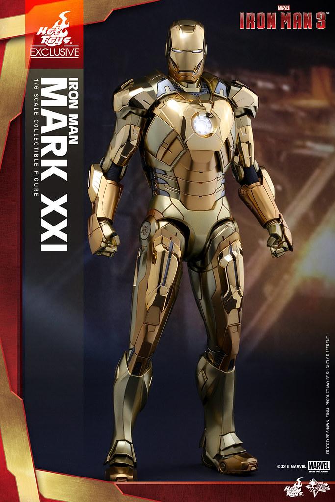 Hot Toys – MMS341 – 《鋼鐵人3》1/6比例 麥達斯 馬克21 (金色電鍍版) Midas Mark XXI (Gold Chrome Version)