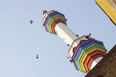 Rainbow on the mosque