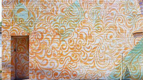 city urban orange abstract wall landscape mural paint pittsburgh pattern pennsylvania paisley urbanlandscape westernpennsylvania 2000s 2016 alleghenycounty 2010s pittsburghregion willreal williamreal