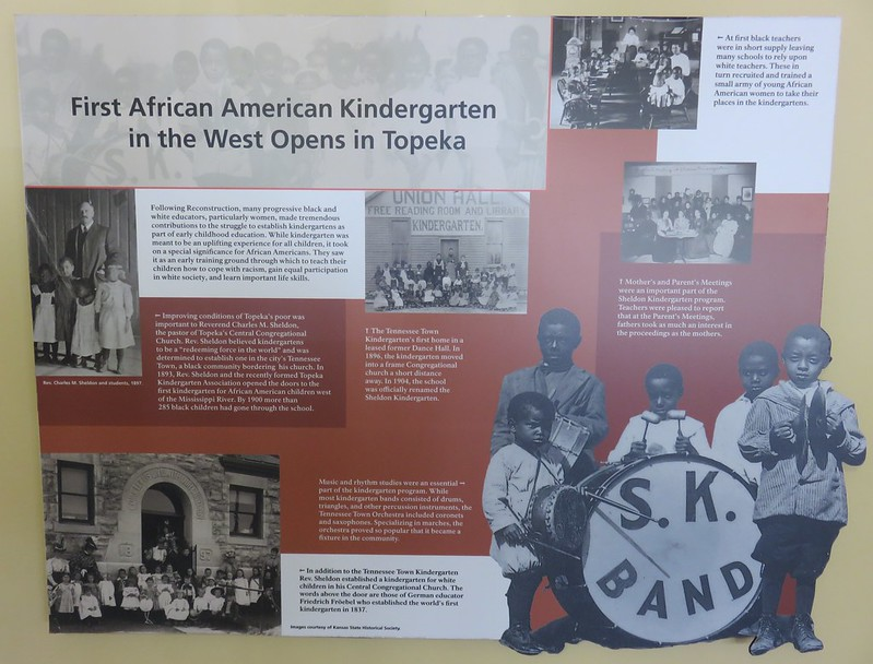 First African American Kindergarten in the West Marker (Brown v. Board of Education National Historic Site, Kansas)