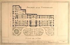 plano del Palacio de los Tribunales y la Plaza Montt Varas