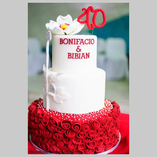 Ruby Red – 40th Wedding Anniversary Cake by Mutya Pacis of Mutya's Kitchen