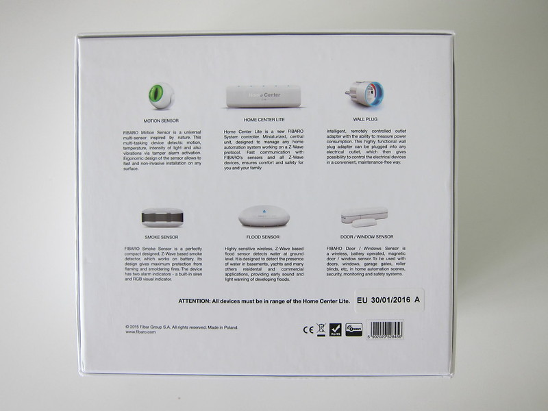 Fibaro Starter Kit - Box Back