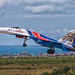 Sukhoi Su-27 Russian Knights during the Aviadarts-2016 flight skills competition in BELBEK AIRFIELD at Sevastopol, Crimea by The best from aviation