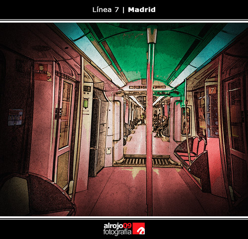 Línea 7   Metro   Madrid by alrojo09
