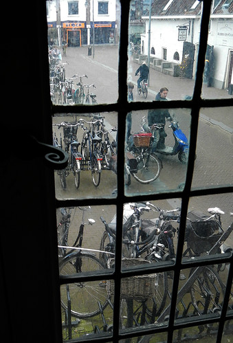 through the window looking out on Gouda