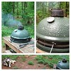 Eastern NC BBQ w/ @grayt1 on @biggreenegginc in the woods outside #atlanta!!