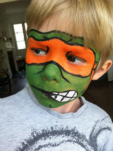 Teenage mutant ninja turtle face paint. | Flickr - Photo ...