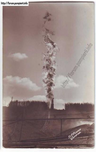 CAMPINA - Incendiu la sonde de petrol - 1927