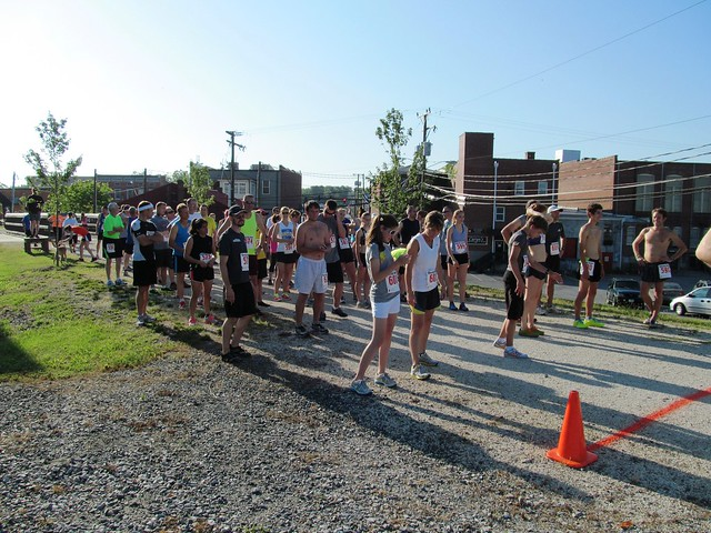 Start and finish line in Downtown Farmville