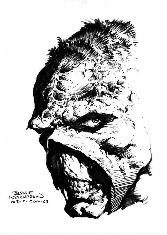 Swamp Thing headshot by Berni Wrightson