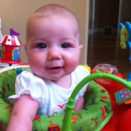 My big girl loves her exersaucer.