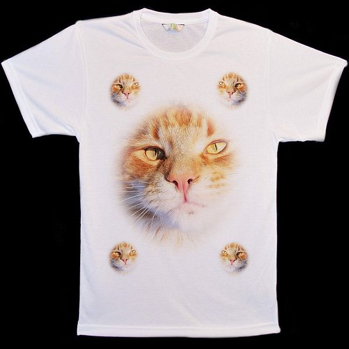 Big-Animal-Face-Ginger-Cat-Collage-T-Shirts