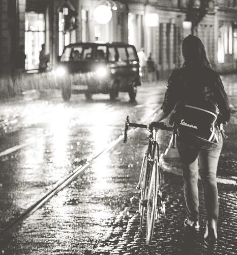 lights and rain