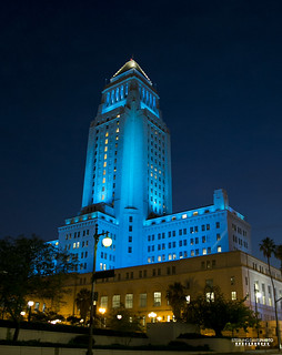 City Hall is Blue again