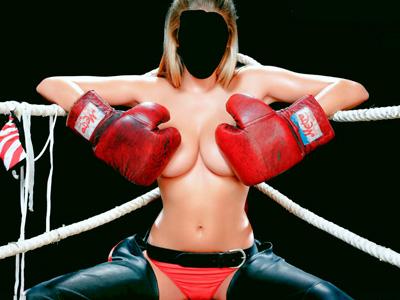 девушка - боксер