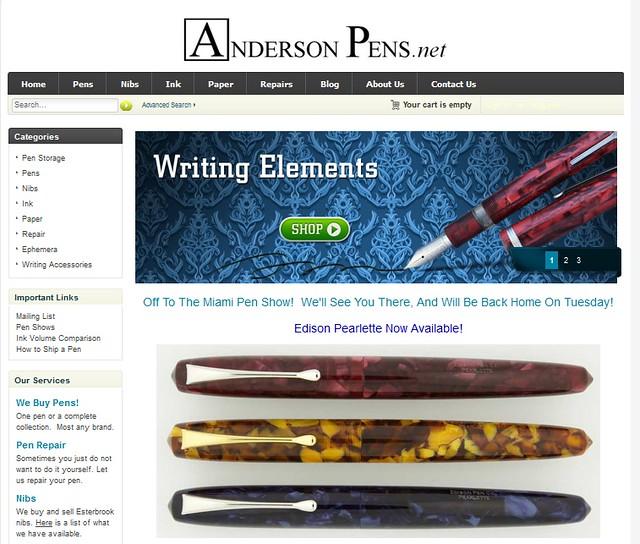 Anderson Pens Homepage