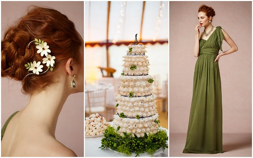 {Bridesmaid's Style} Green Inspiration by Nina Renee Designs