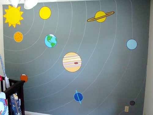 Space-themed baby nursery