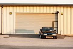 building, garage door, garage, facade, shed,