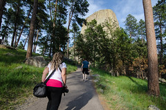 Walking the Devils Tower trail