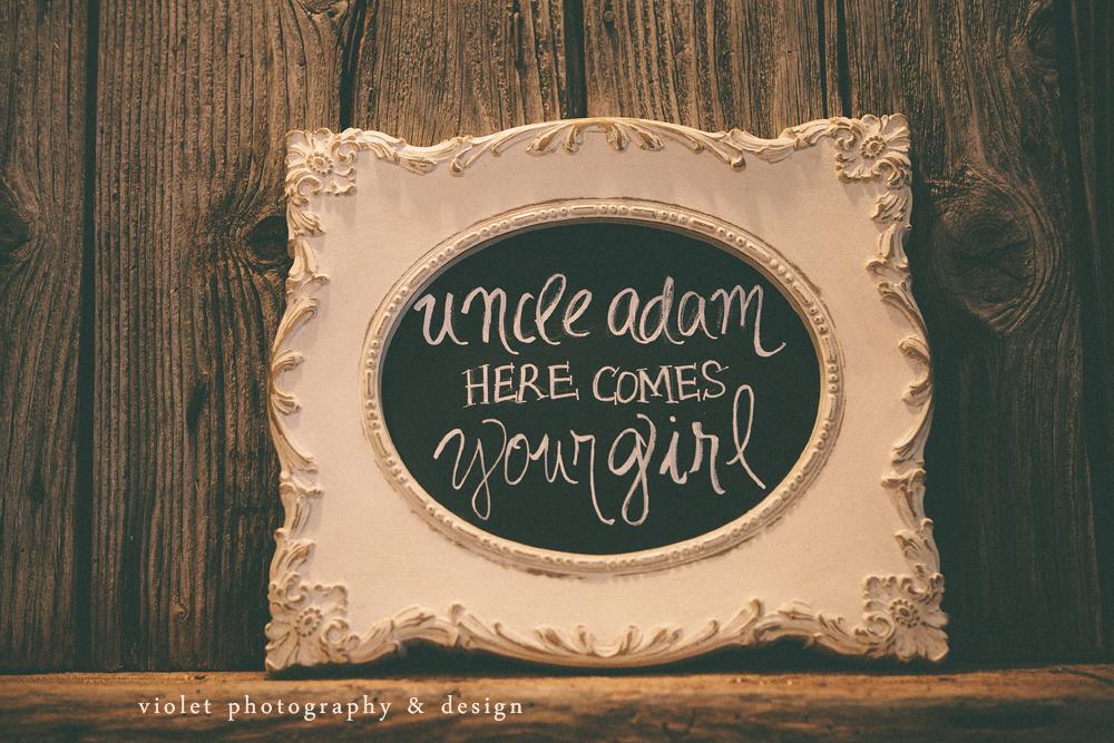 chalkboard bridal announcement