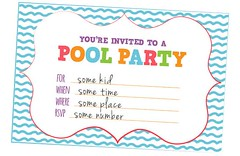 Creative Pool Party Invitations