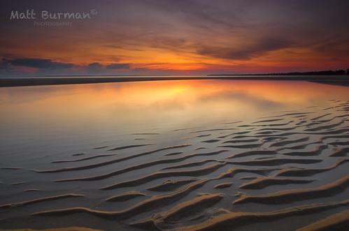 ocean sunset sea seascape reflection sunrise landscape sand nt australia ripples k5 northernterritory arnhemland gove nhulunbuy arafura eastwoody