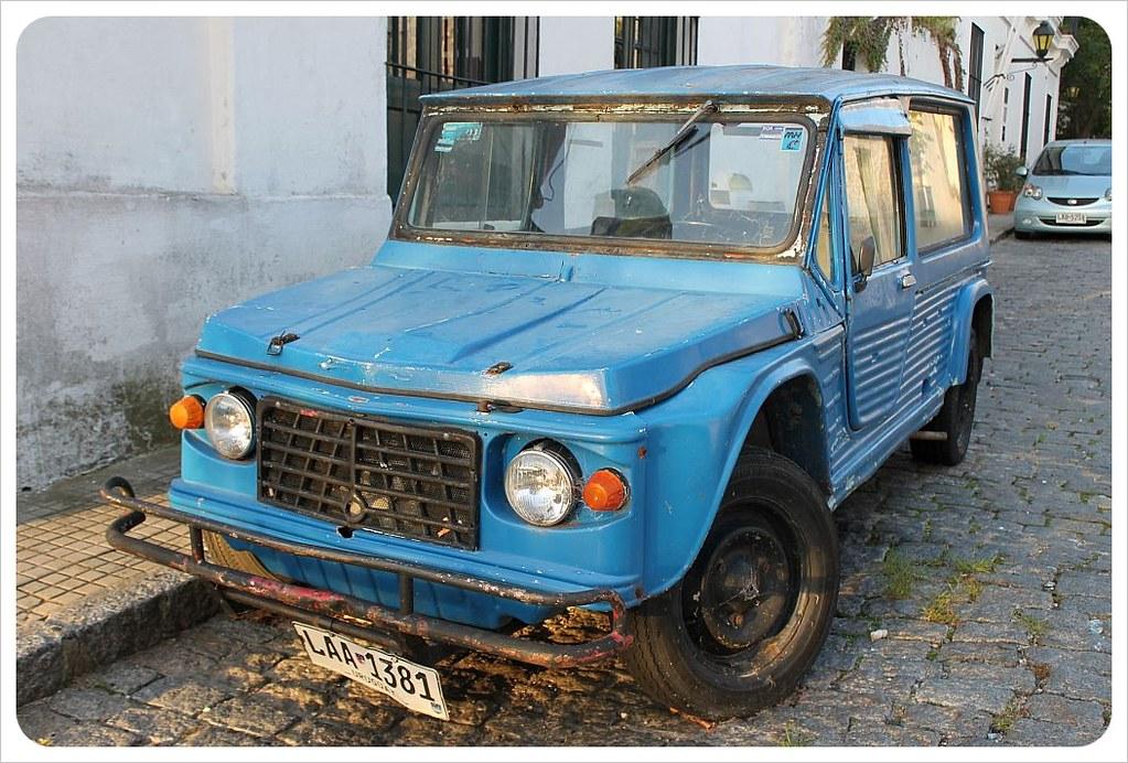 uruguay vintage army jeep