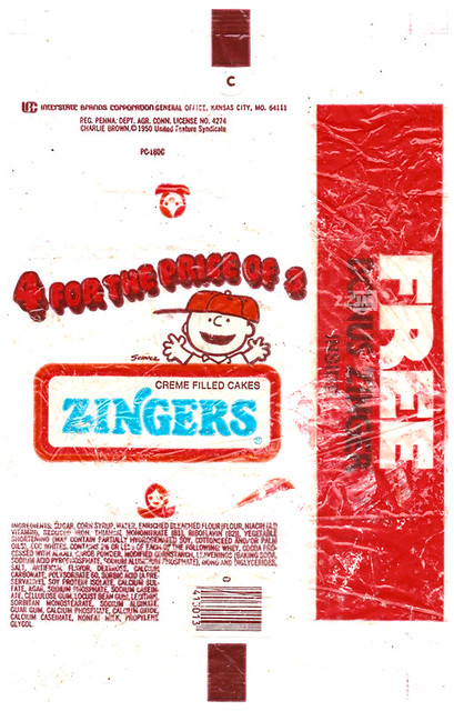 Vintage IBC Dolly Madison Zingers Wrapper