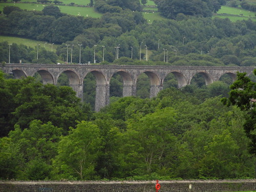 wales landscape view viaduct merthyrtydfil