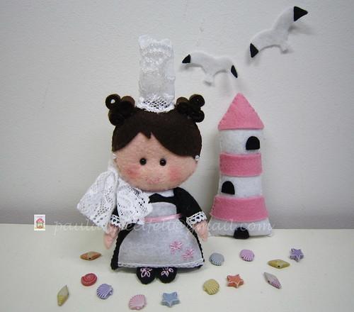 "♥♥♥ A ""bigoudéne"" da Valentine... by sweetfelt \ ideias em feltro"