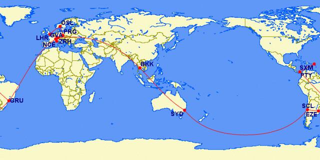 ETS Trip map