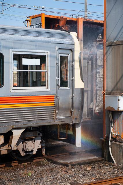 伊予鉄道古町車庫洗浄線