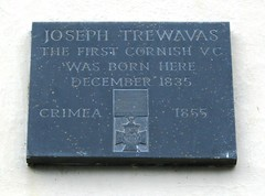 Photo of Joseph Trewavas slate plaque