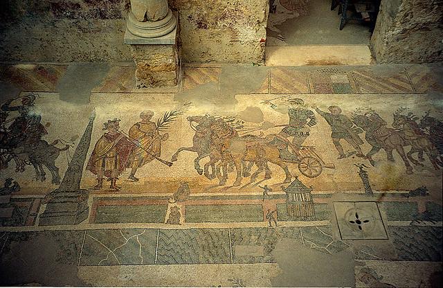 Villa romana del Casale - Carreras de cuádrigas