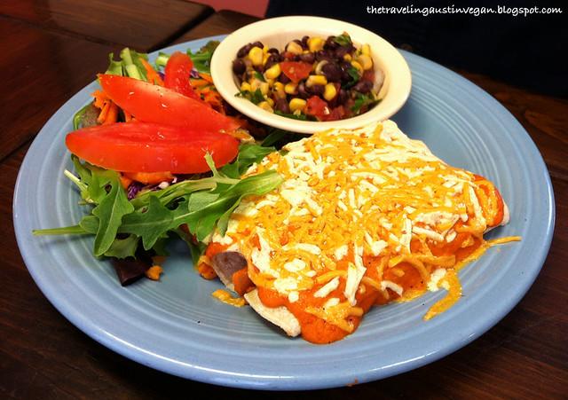 Vegan Enchiladas - Vegeria - San Antonio, TX