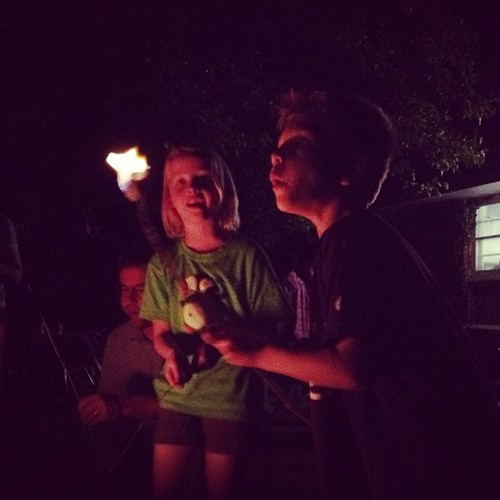 I love the joy of flaming marshmallows as a child.