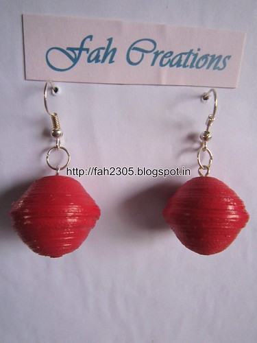 Handmade Jewelry - Paper Quilling Globe Earrings (7) by fah2305