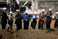 ground breaking, Paseo Verde, Philadelphia (courtesy of Jonathan Rose Cos.)