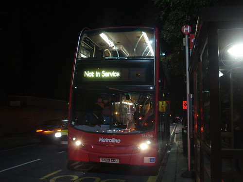 Metroline West TE1750 on Route E3, Chiswick