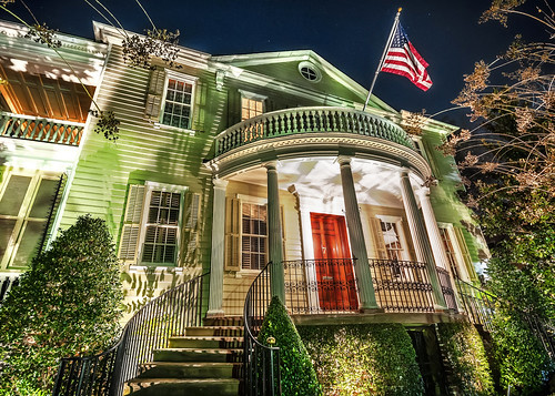 home architecture night southcarolina historic charleston southern streetview skynoir 7meetingstreet