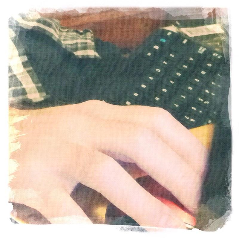 Aidan's hand
