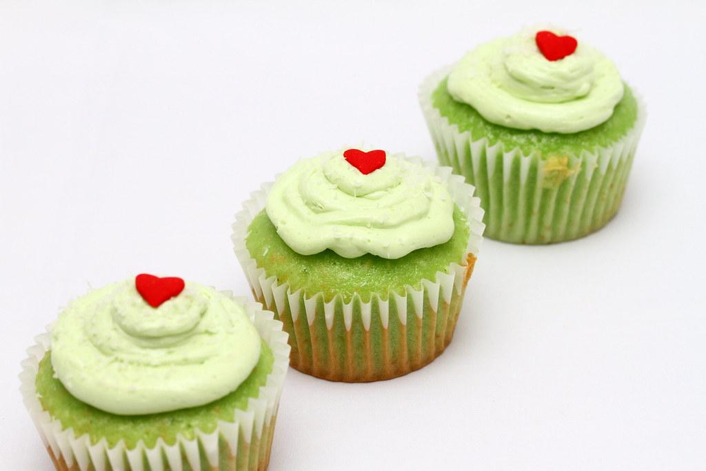 Pandan Coconut Cupcakes