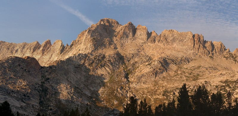 The southwest face of Matterhorn Peak and the Sawtooth Ridge