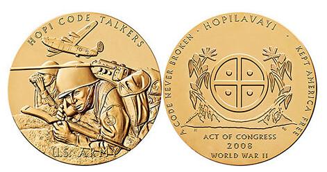 Hopi tribe medal