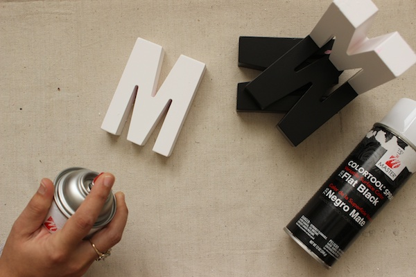 Fabric Paper Glue | DIY Shadow Monogram Bookends